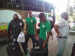 Super Eagles Arrive At Akwa Ibom Airport, Promise Victory Against Bafana Bafana On Saturday(PHOTOS)