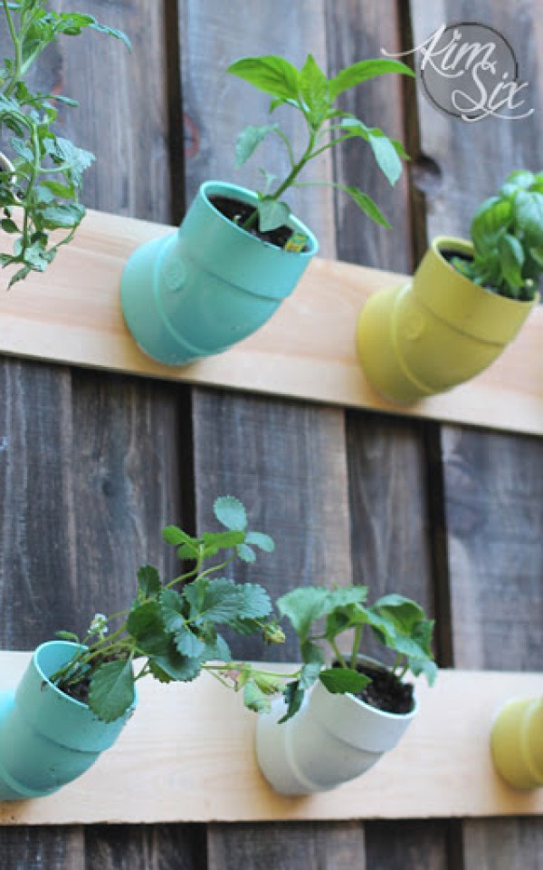 pvc pipe vertical planter