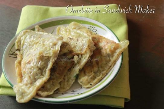 Omelette in Sandwich Maker1