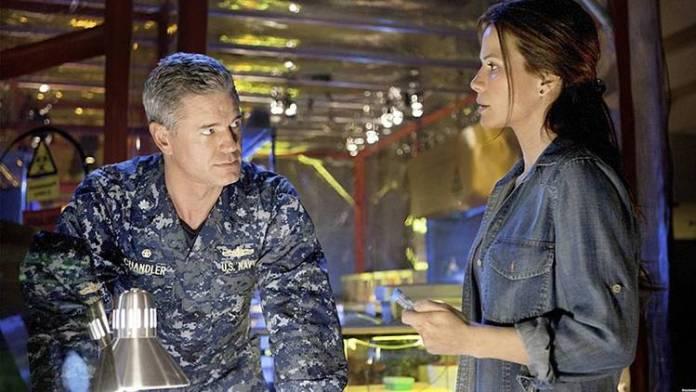 "La pareja protagonista de ""The last ship"""