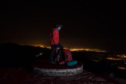 San Sébastien de nuit depuis le sommet de la Rhune