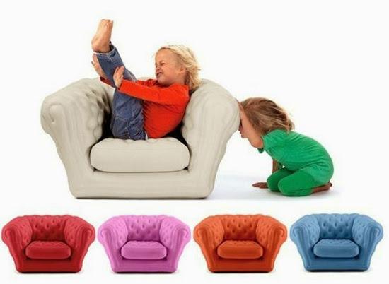 Muebles inflables de aire.