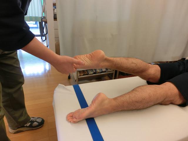 全身調整での脚の調整