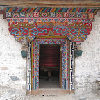 Prayer wheel house, Daocheng, Sichuan.