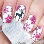 Fabulous Reindeer Nail Art Designs & Ideas