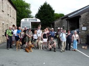 A group gathering at Plumgarths Tea Rooms