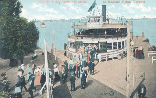postcard-toronto-island-hanlans-point-ferry-boat-bluebell-unloading-passengers-tinted-c1910