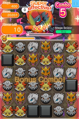 Pokemon Shuffle Stage 400: Mega Scizor | Pokemon Sun And Moon