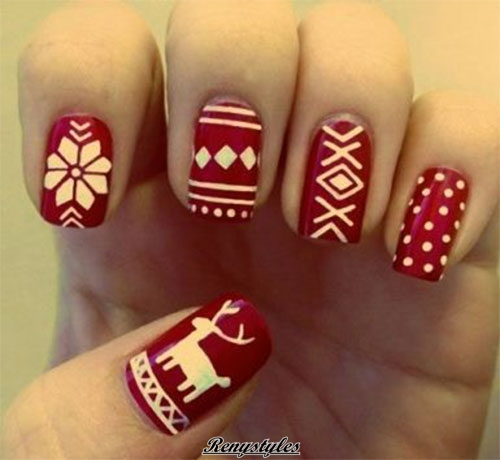 Fabulous reindeer nail art designs ideas reny styles related posts cute christmas nail art prinsesfo Images