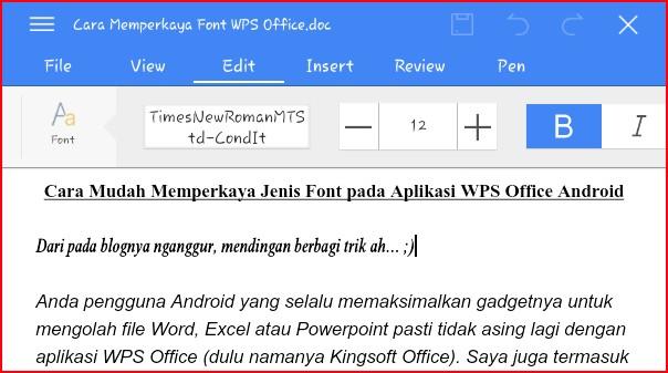 Download Cara Mudah Memperkaya Jenis Font pada Aplikasi WPS Office ...
