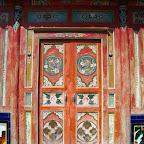 Chapel door, Baita temple, Xueshan Xiang, Qinghai.