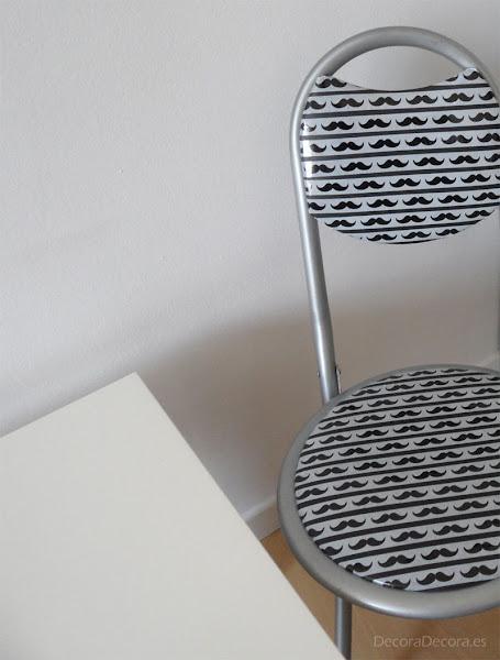 Washi tape para decorar sillas