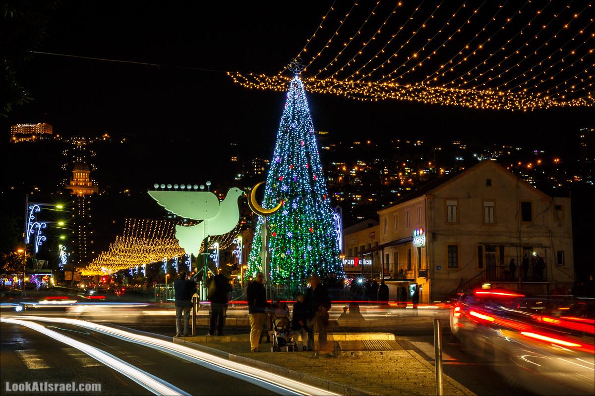 Хайфа имитирует европейское Рождество
