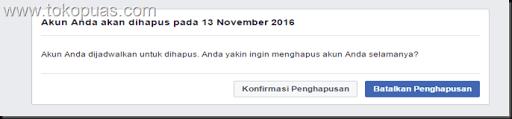 cara menghapus akun facebook dengan cepat