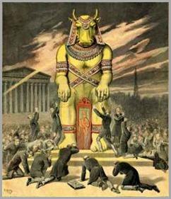 Deus Baal das riquesas é o mesmo Deus da extrema-direita e burguesia no Brasil.