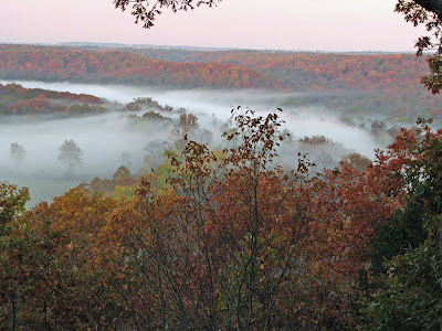 Morning fog in the valley