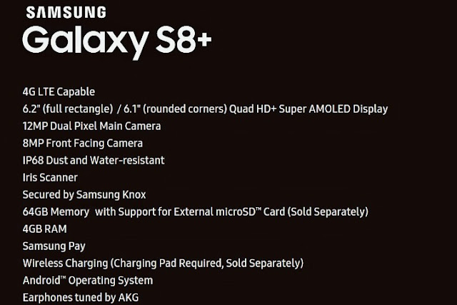 See Specifications Of The Samsung Galaxy S8 Plus 3