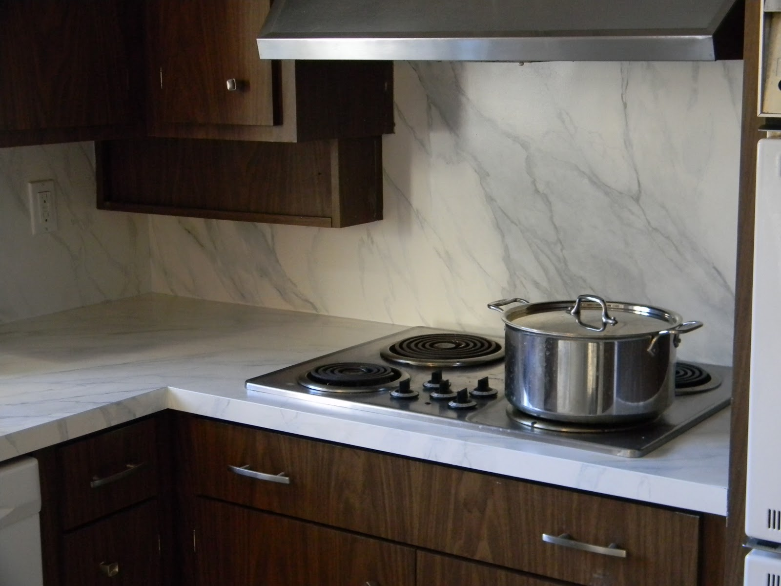 White Marble Laminate Countertops Home Decorating Interior