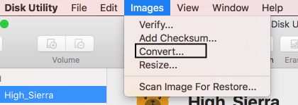 32 the Images menu and Convert