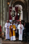 The procession with banners at the start of the Easter Sunday Sung Eucharist