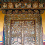 Chapel door, Ganzi Monastery, Sichuan.