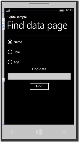 IMMAGINE 1.2 thumb1 - Parte due, Sqlite in Windows Phone 8.1
