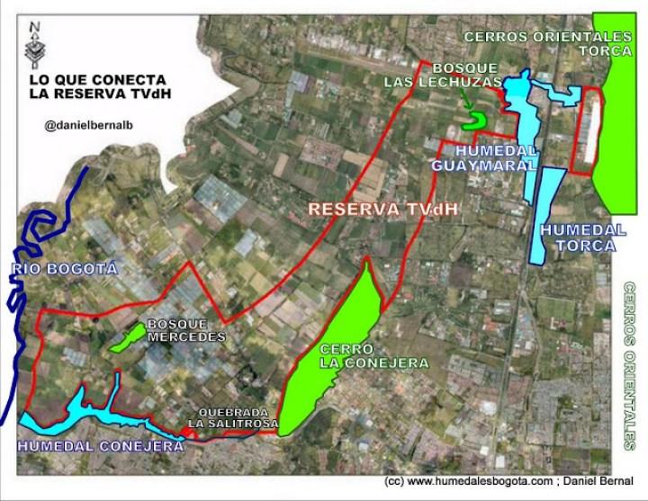 Lo que conecta la Reserva Thomas Van der Hammen