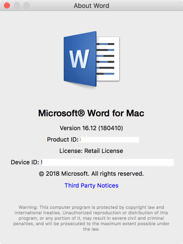4-I+have+Office+2017+ver+16 If you haven't updated Office 2017, you need to do so. mac