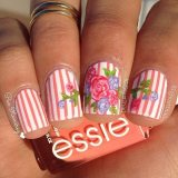 simple nail art designs for spring 2015