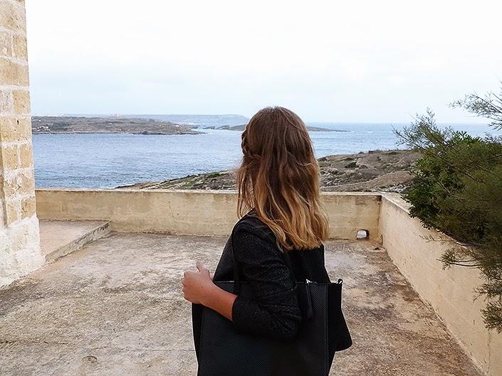 maltese landscape, view, Gozo Malta, outfit idea, fashion inspiration