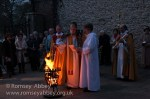 Blessing the first fire of Easter