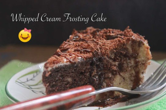 Whipped Cream Frosting Cake2
