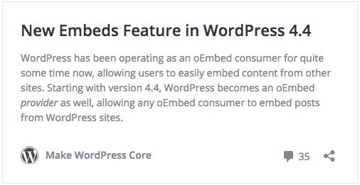 Lo nuevo de WordPress 4.4 Clifford