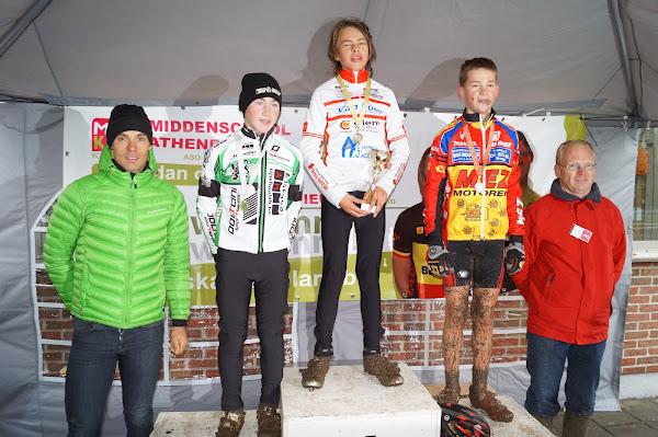 Podium Aspirantencross 14 jaar MSKA Roeselare