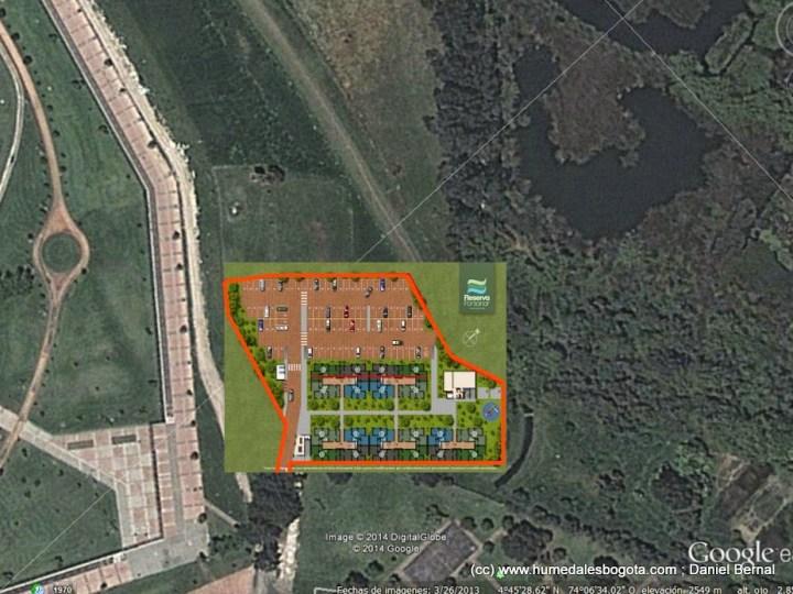 Sobreposición del plano del proyecto y la fotografía satelital