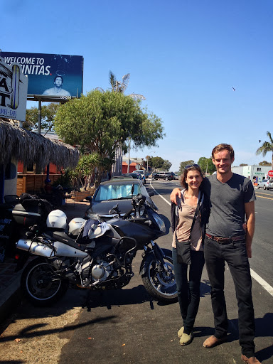 Meeting Asli and Paul in Encinitas planning out the ride to Baja