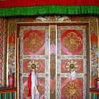 Chapel door, Luhuo Monastery, Sichuan.