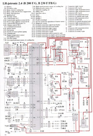 Volvo 740 wiring diagram 1991  24h schemes
