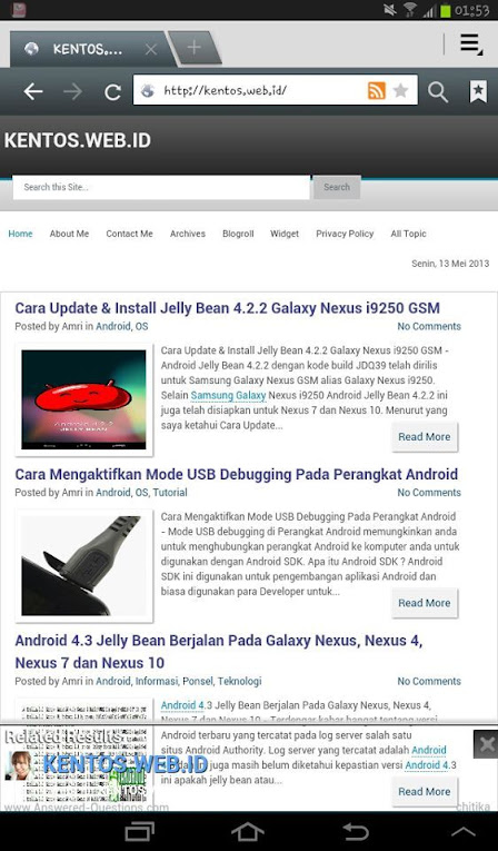Cara Mengambil Screenshot atau Capture Screen Android Jelly Bean