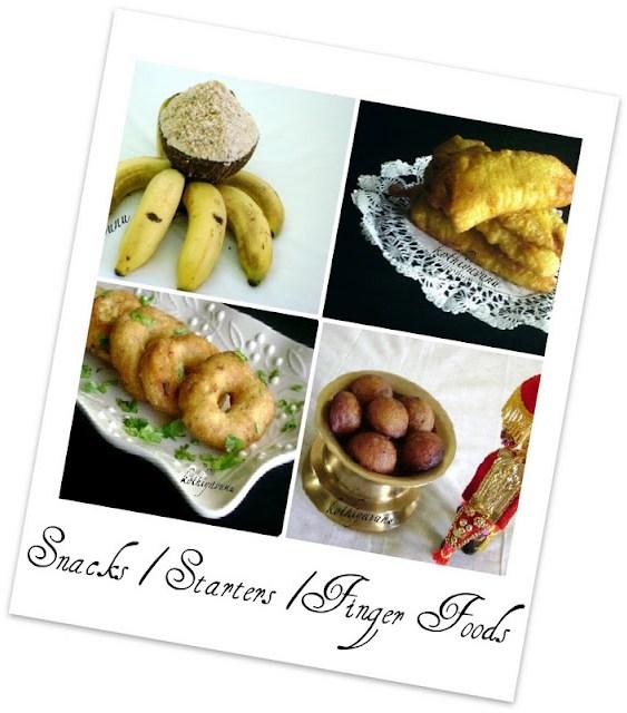 Veg-Recipes -Snacks-Starters-Finger Foods |kothiyavunu.com