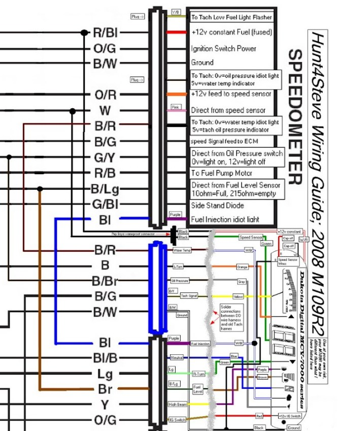 dakota digital mcv7200 install / tachometer replacement