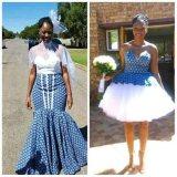 latest shweshwe inspired wedding dresses 2017