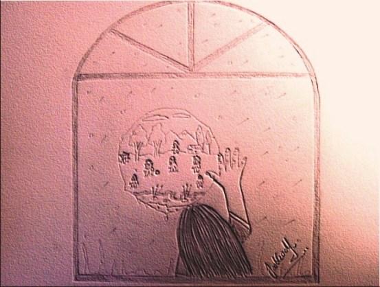Dibujos en las ventanas