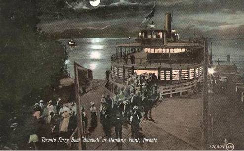 postcard-toronto-island-hanlans-point-ferry-bluebell-at-dock-at-night-c1910