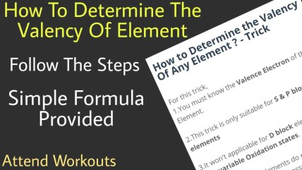 trick to find valency of an element