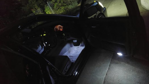 footwell and front door leds