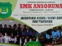 Penerimaan Siswa Baru SMK Ansoruna Subang