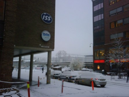 ISS Oslo, first snow in 2008