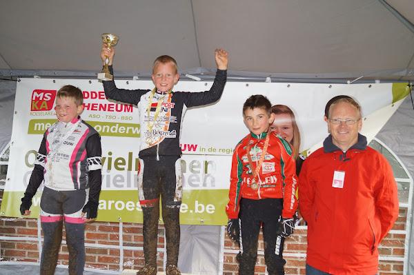 Podium Miniemencross 9 jaar MSKA Roeselare