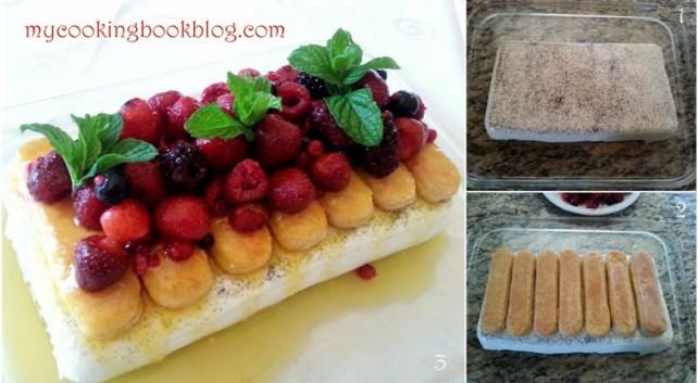 Десерт с бишкоти, панакота и ягоди